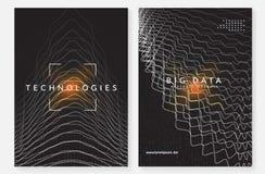De achtergrond van de visualisatie Technologie voor grote kunstmatige gegevens, binnen royalty-vrije illustratie