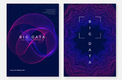 De achtergrond van de visualisatie Technologie voor grote kunstmatige gegevens, binnen stock illustratie