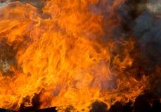 De achtergrond van vlammen Royalty-vrije Stock Foto's
