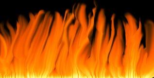 De achtergrond van vlammen Royalty-vrije Stock Foto