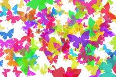 De achtergrond van vlinders Stock Foto's
