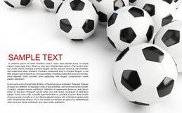 De achtergrond van voetbalballen Stock Foto