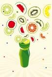De achtergrond van vruchten royalty-vrije illustratie