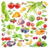 De Achtergrond van vruchten en van Groenten royalty-vrije stock afbeelding