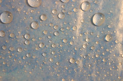 De Achtergrond van Waterdrops Stock Foto
