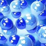 De achtergrond van watermolecules Vector Illustratie