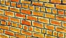 De achtergrond van de waterverf Textuur van een bakstenen muur stock illustratie