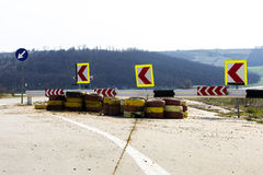 De achtergrond van wegreparaties royalty-vrije stock afbeeldingen