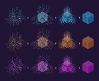 De achtergrond van de wetenschap Kleurrijke kubus stock fotografie