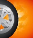 De Achtergrond van wielen Stock Foto