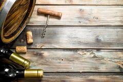 De achtergrond van de wijn Vat witte wijn royalty-vrije stock foto's