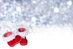De achtergrond van de winter De achtergrond van de Kerstmiswinter withred Cristmas royalty-vrije stock afbeelding