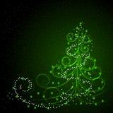 De achtergrond van de winter met Kerstmisboom Royalty-vrije Stock Foto's