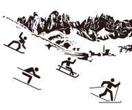De achtergrond van wintersporten stock illustratie