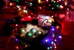 De achtergrond van de wintertijdvakantie Stock Afbeeldingen
