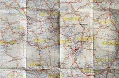 De achtergrond van de Witboekwegenkaart stock afbeeldingen