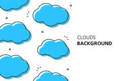 De achtergrond van wolken vector illustratie
