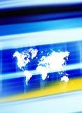 De achtergrond van Worldmap Stock Fotografie
