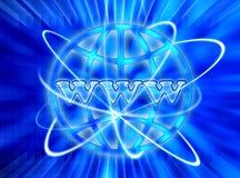 De achtergrond van WWW Internet Royalty-vrije Stock Afbeeldingen