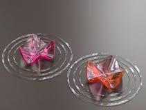 De achtergrond van Zen. Abstracte waterlelies, exemplaarruimte Stock Foto