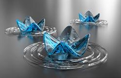 De achtergrond van Zen. Abstracte waterlelies, exemplaarruimte Royalty-vrije Stock Afbeelding