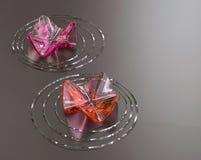 De achtergrond van Zen. De lotusbloembloemen van het glas, copyspace Royalty-vrije Stock Fotografie