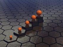 De achtergrond van zeshoeken Stock Afbeelding