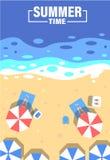 De achtergrond van de de zomertijd De zomervector stock illustratie
