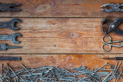 De achtergrond voor het reparatiewerk Stock Foto's