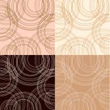 De achtergronden van cappuccino's, van de vanille en van de chocolade Royalty-vrije Stock Foto