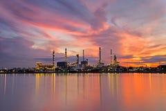 De achtergronden van de de olieraffinaderij van Thailand bangjak Royalty-vrije Stock Foto