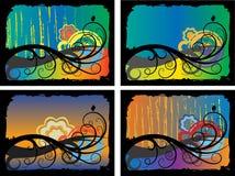 De achtergronden van de herfst Stock Afbeeldingen