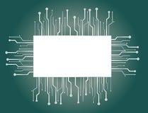 De Achtergronden van de microchipbanner Royalty-vrije Stock Foto