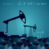 De achtergronden van de oliepomp met pictogram royalty-vrije illustratie