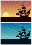 De Achtergronden van de piraat stock illustratie