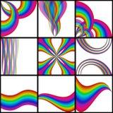 De achtergronden van de regenboog Royalty-vrije Stock Afbeeldingen