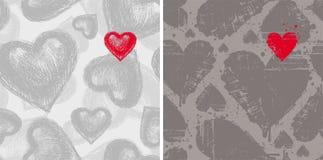 De achtergronden van de valentijnskaart Stock Foto
