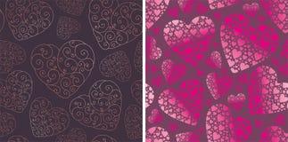 De achtergronden van de valentijnskaart Stock Afbeelding