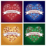 De achtergronden van de valentijnskaartendag Stock Afbeeldingen