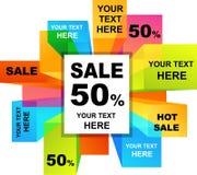 De achtergronden van de verkoop Stock Foto's