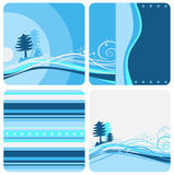 De achtergronden van de winter Royalty-vrije Illustratie