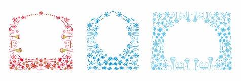 De achtergronden van de winter Stock Afbeeldingen