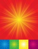 De achtergronden van de zonnestraal stock illustratie