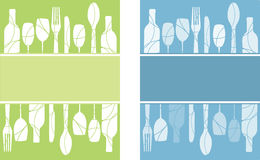 De achtergronden van het menu vector illustratie