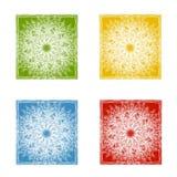 De Achtergronden van het Patroon van de sneeuwvlok Stock Foto