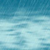 De achtergronden van het regenonweer in bewolkt weer met groen gras vector illustratie
