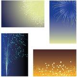 De achtergronden van het vuurwerk Royalty-vrije Stock Afbeeldingen