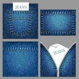 De achtergronden van jeans Royalty-vrije Stock Foto's