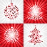 De Achtergronden van Kerstmis van de inzameling Royalty-vrije Stock Afbeeldingen