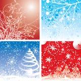 De achtergronden van Kerstmis, vector Stock Foto's